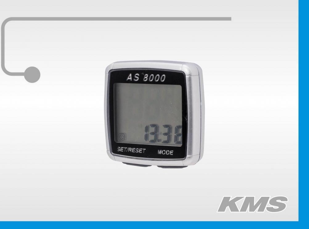 Велокомпьютер AS8000 беспроводной 3308000